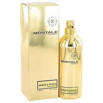Montale Bernstein & Gewürze Von Montale Eau De Parfum Spray (unisex) 3.3 Oz (Frauen) V728-518271