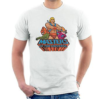 Masters Of The Universe He Man Battle Cat And Orko Men's T-Shirt