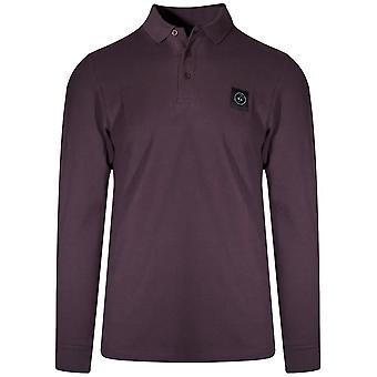 Marshall Artist Burgundy Long-Sleeved Siren Polo Shirt