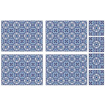 iStyle Moroccan Tiles Placemats & Coasters Set of 4