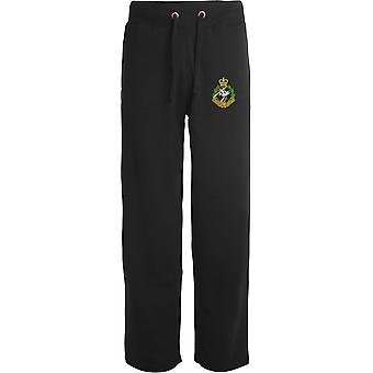 Royal Army Dental Corps - Licensed British Army Embroidered Open Hem Sweatpants / Jogging Bottoms