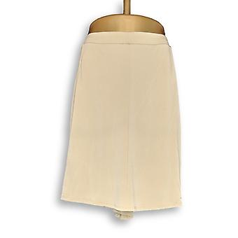 Susan Graver Women's Plus Shorts Liquid Knit 8 Gore Skort Beige A264867