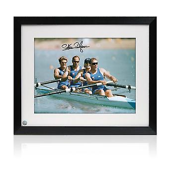 Sir Steve Redgrave Signed Olympics Rowing Photo: The Winning Team. Framed