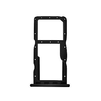 Sim and Micro SD card tray slot adapter for Huawei P30 Lite, Spare parts- Black
