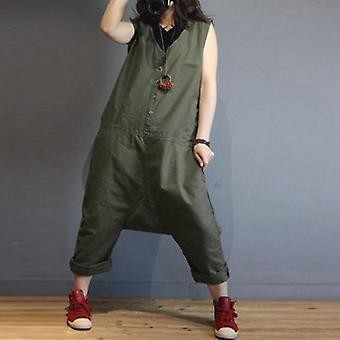 Jumpsuits Plus Size Sleeveless Casual Drop Crotch