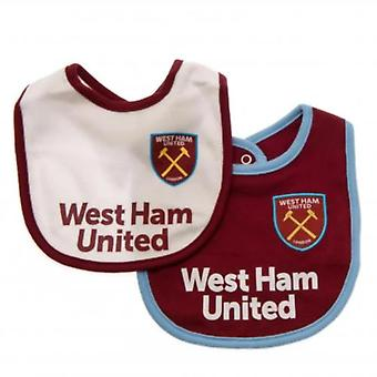 West Ham United Baby Kit 2 Pack Lätzchen | Saison 2019/20