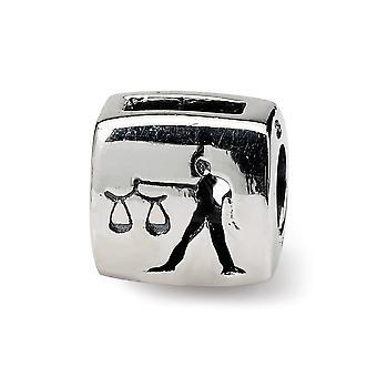 925 Sterling Silver leštené odrazy libra zverokruhu korálky kúzlo prívesok náhrdelník šperky Darčeky pre ženy