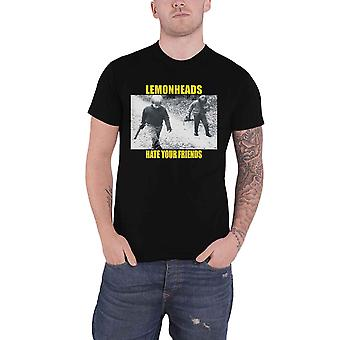 The Lemonheads T Shirt Hate Your Friends Band Logo new Official Mens Black