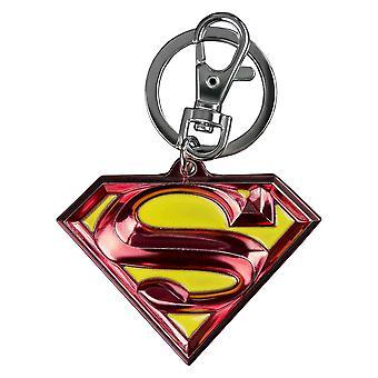 Superman Logo Colour Enamel Keychain