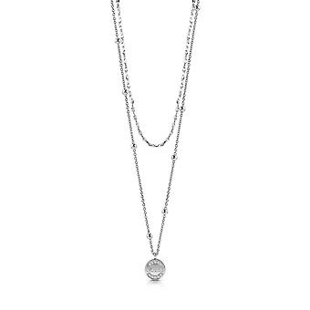 Guess Jewellery Guess Rhodium Plated Swarovski Crystals Necklace UBN28031