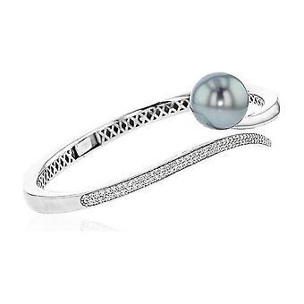 Luna-Pearls Pearl Bracelet Tahitiperle 12-13 mm Zirconia 925 Silver 3001210