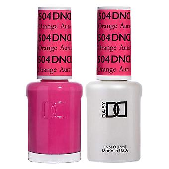 DND Duo Gel & Nail Polish Set - Orange Aura 504 - 2x15ml