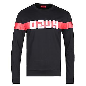 HUGO Daar Brutallism Logo Black Sweatshirt