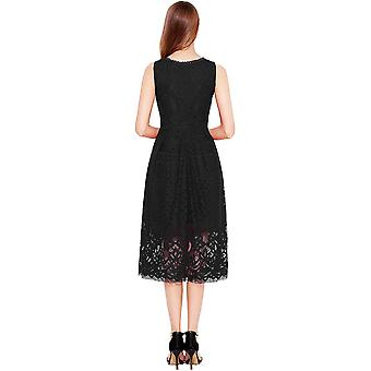 VEIISAR Womens Fashion Sleeveless Lace Fit Flare Elegant Cocktail Party Dress...