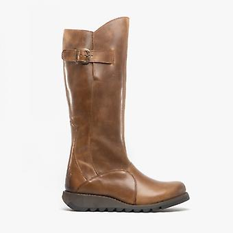 Fly London Mol 2 Ladies Leather Tall Boots Camel