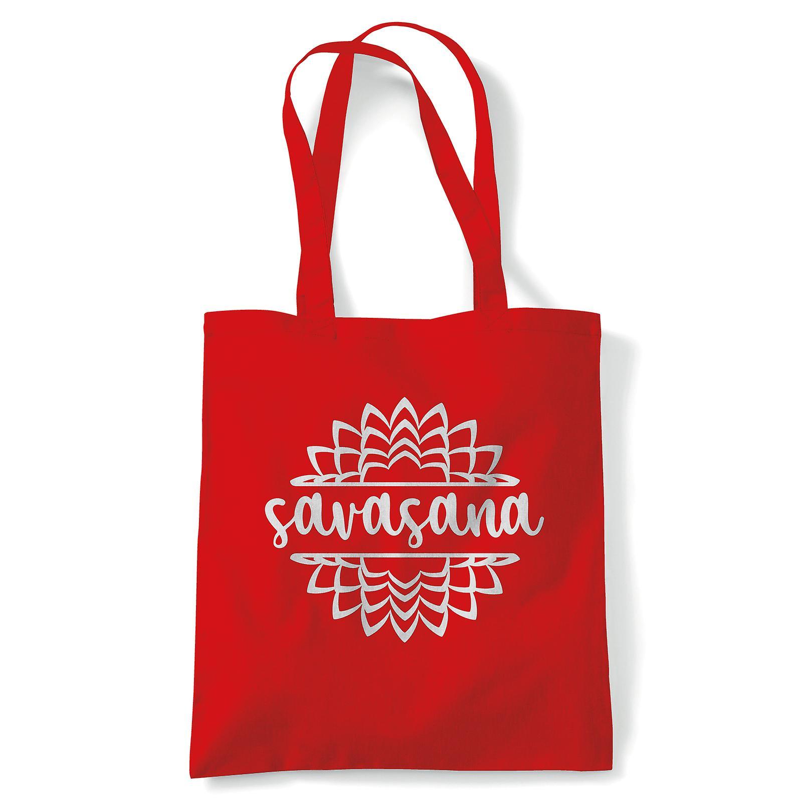 Savasana, Tote - Yoga Reusable Canvas Bag Gift | Fruugo US