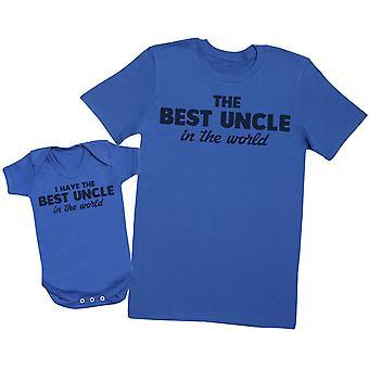 Mam najlepszego wuja na świecie pasujące Uncle Baby T-shirt gift set