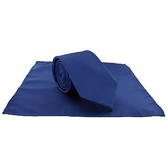 Michelsons di Londra Pocket poliestere pianura quadrati e legare insieme - blu reale