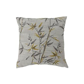 Contemporary Style Set of 2 Throw Pillows, Yellow