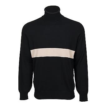 Brunello Cucinelli Turtleneck Cashmere Sweater in Black