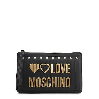 Amor moschino mujeres's bolso clutch - jc4102pp18ls, negro