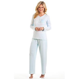Damer La Marquise Spot Design Børstet Fleece Long Nightwear Pyjamas Nattøj Sleepwear