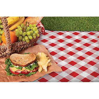 Country Club Picnic Blanket with Bag, Red Check