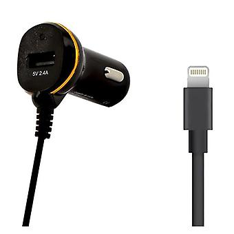 Car charger Ref. 138222 USB Cable Black Lightning