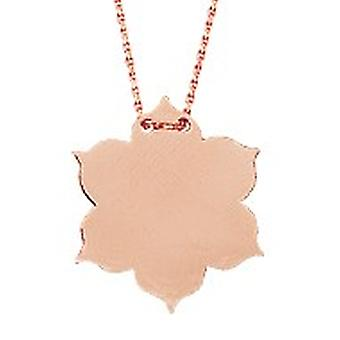 14k Rose Gold Adjustable Engravable Flower Necklace 18 Inch Jewelry Gifts for Women - 3.0 Grams