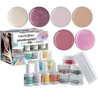 Cuccio Pro Powder Polish Nail Colour Dip System Dipping Powder - The Sophistication Collection Starter Kit (5016)