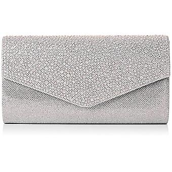 SwankySwans clutch 'Montary with silver rhinestones (Silver)) Single size