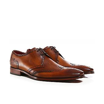 Jeffery-West Leather Wing-Tip Scarface Shoes