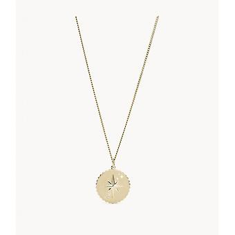 Fossil necklace and pendant JF03241710 - VINTAGE MOTIFS Dor Steel Women