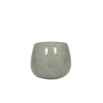 ضوء والمعيشة زهرية 20x16cm مومبولا زجاج الأخضر