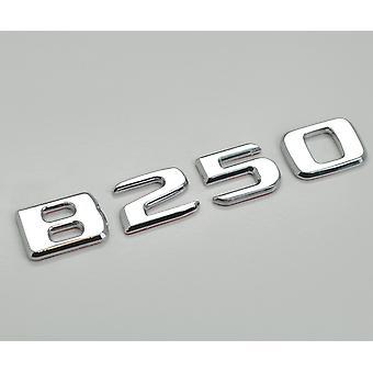 Silver Krom B250 platt Mercedes Benz bilmodell Bak boot nummer brev klistermärke dekal badge emblem för B-klass W245 W246 W247 AMG