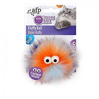 AFP Fluffy Ball Naranja Furry Ball (Katten , Speelgoed , Staven)