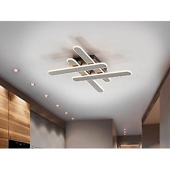Schuller Yoga - Lampe de plafond LED, en métal et aluminium, finition gris titane brossé. Diffuseur en silicone. 32W LED. 1650 lm. 3.000 K. - 371235