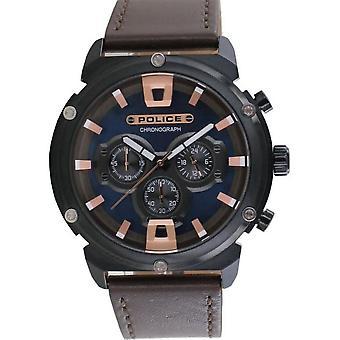Police Herren Uhr Armbanduhr Leder Analog Amor II PL15047JSB.03