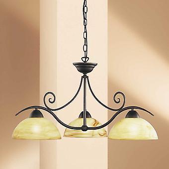 WOFI Lacchino Classic 3 Light Ceiling Ciondolo Luce In Antico Marrone Finitura 5128.03.09.0000