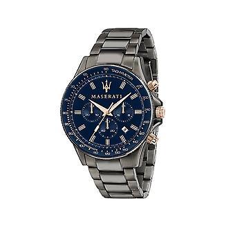 Maserati - Wristwatch - Men - SFIDA 44MM CHR BLUE DIAL BR GUN - R8873640001