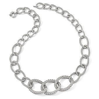 925 Sterling Silver Polished Fancy Spring Lock Closure Woven Necklace 22 Inch Jewelry Gifts for Women