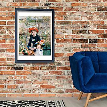 Pierre Auguste Renoir - Two Sisters On the Terrace Poster Print Giclee