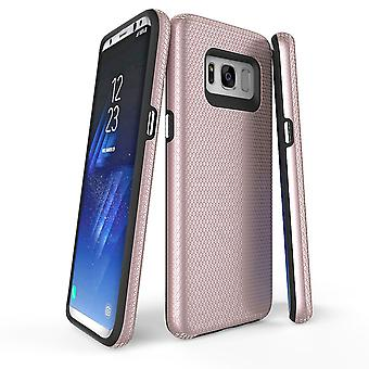 Para samsung Galaxy S8 Case, Rose Gold Armour Protective Slim Phone Cover