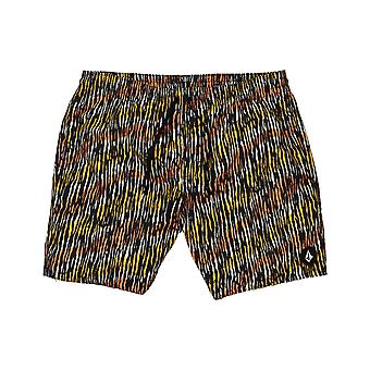 Volcom Brimmer Trunk 17 Mid Length Boardshorts in Black