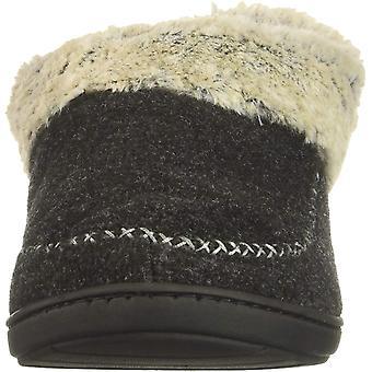 Dearfoams Women's Felted Faux Wool Bootie Slipper, Black, S Regular US