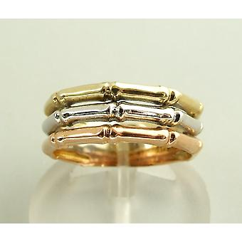 Christian gold tricolor ring
