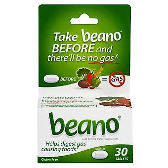 Beano food enzyme dietary supplement, tablets, 30 ea
