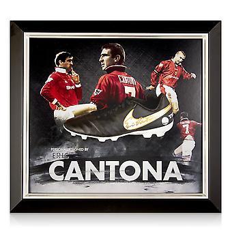 Eric Cantona Signed Football Boot Framed