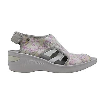 BZees Womens Dream Fabric Peep Toe Beach Platform Sandals