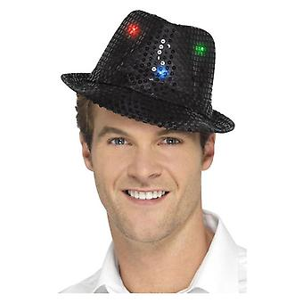 Light Up Sequin Trilby Hat